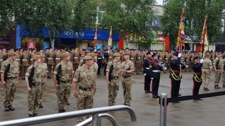 Armed forces Day parade in Rotherham 25th June 2016